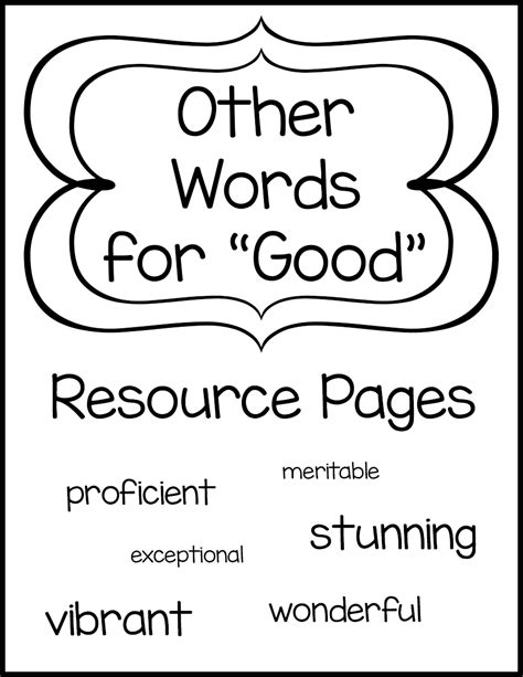 other words for other words for good resource pages
