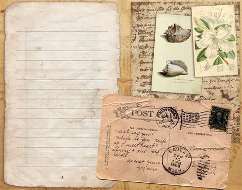 free papers for card 5 best images of free printable vintage journal free
