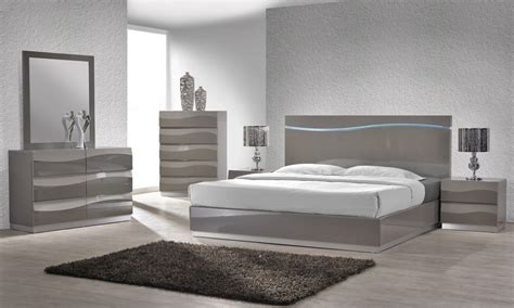 grey bedroom white furniture enzo grey lacquer bed with led lights
