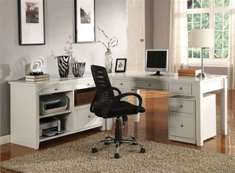 white home office furniture sets modular home office furniture collections with white color
