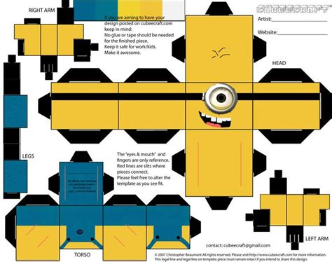 Paper Craft D Orsay The Minions And 3d Paper