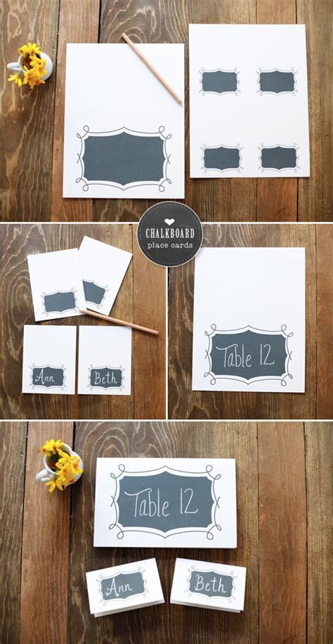 diy chalkboard printable free printables chalkboard place cards