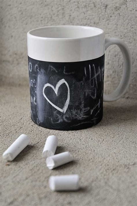 chalkboard paint mugs 25 simple diy valentines day present and card suggestions
