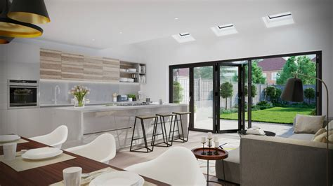 Kitchen Dining Room Floor Plans the pros and cons of open plan living love chic living