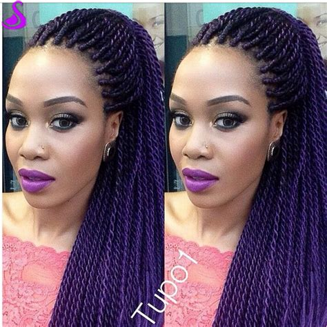 micro braids ombre hair purple ombre braided lace front wig two tone synthetic x