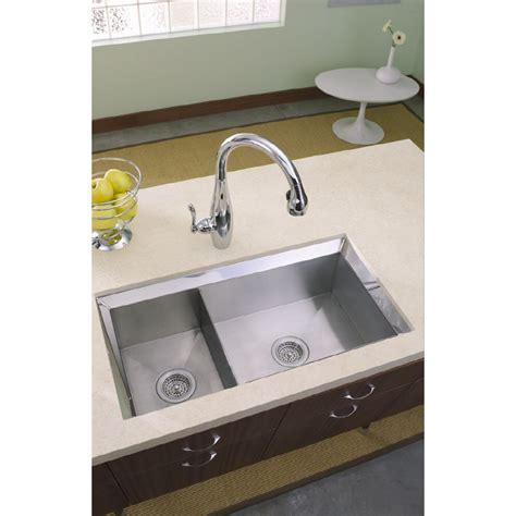 kitchen sink undermount shop kohler poise 16 basin undermount