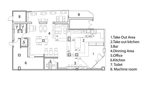 bar floor plans gallery of les b 233 b 233 s cafe bar jc architecture 27