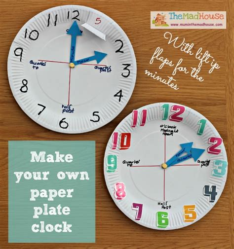 clock craft project how to make a paper plate clock clocks songs and child