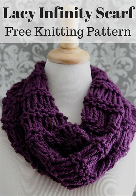 free baby scarf knitting pattern lacy plum infinity scarf allfreeknitting