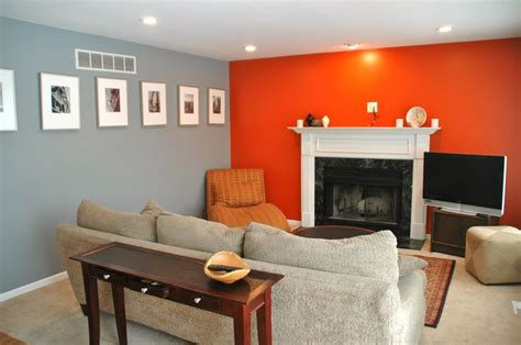 orange paint colors for living room grey orange living room mine orange