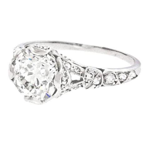 deco 2 07ct set platinum engagement ring for sale at 1stdibs