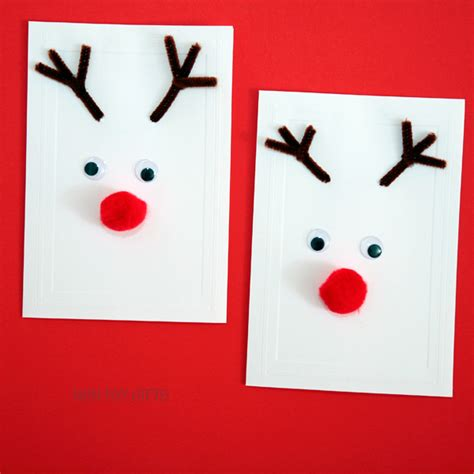 reindeer cards to make reindeer cards kid made cards non gifts
