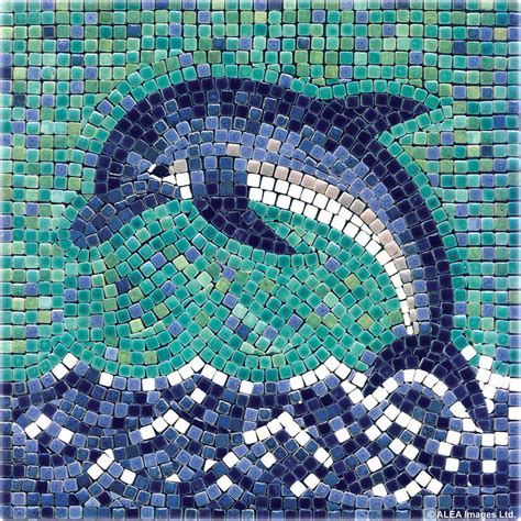 mosaic tile craft projects dolphin with ceramic tiles mosaic craft kit artist
