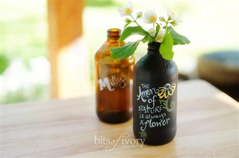 chalkboard paint vases how to make chalkboard vases from bottles