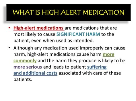 what is high high alert medication