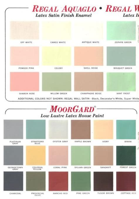 benjaminmoore colors 60 colors from benjamin s 1969 paint palette retro