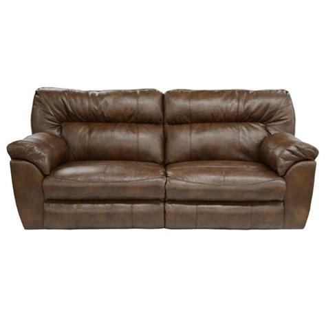 catnapper nolan leather reclining sofa in chestnut