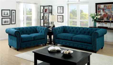 teal sectional sofa 3 stanford teal fabric sofa set foa 6269sf