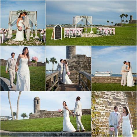 st wedding st augustine fort weddings castillo de san marcos fort