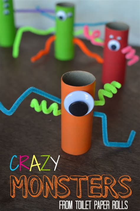 Toilet Paper You Monster by Toilet Paper Roll Monsters Our Thrifty Ideas