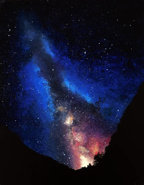 acrylic painting a galaxy stock images stock images