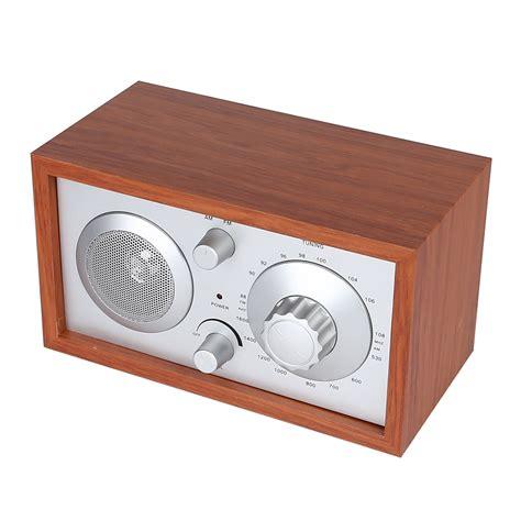 am fm cabinet radio radioddity sy 602 classic wooden am fm table top