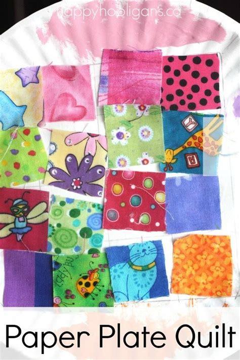 quilting crafts paper plate quilt craft happy hooligans