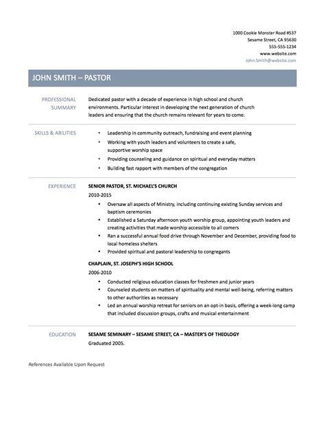 sample pastoral resume uxhandy com