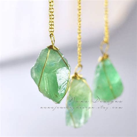 gemstones jewelry fluorite necklace necklace mint green fluorite