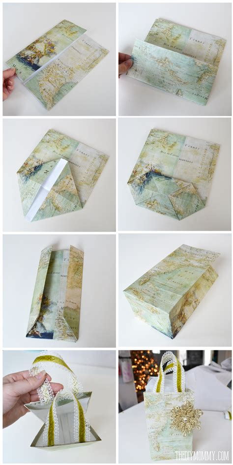 for to make as gifts diy vintage map gift wrap and gift bags the