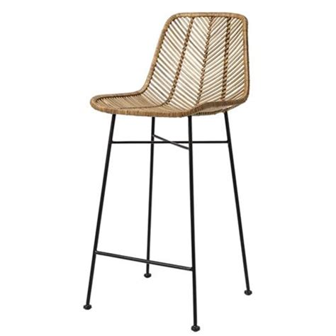 tabouret de bar en rotin tress 233 bloomingville sur cdc design