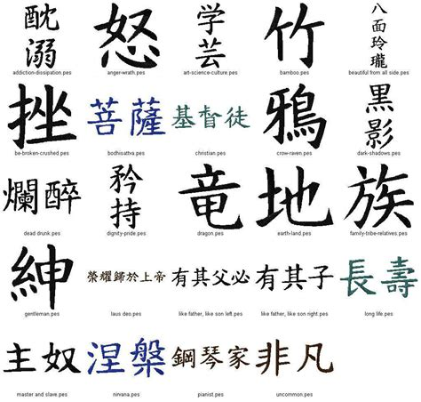 hidden meanings in kanji chinese characters green leaves