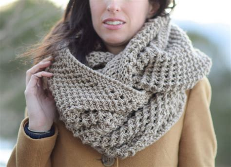 knitting patterns for larger the traveler knit infinicowl scarf pattern in a stitch