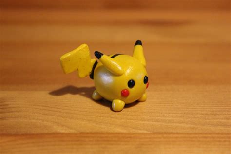 with polymer clay miniature polymer clay pikachu by littleredpanda93 on