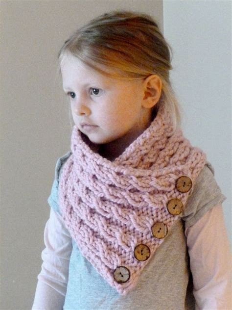 how to knit a baby scarf for beginners knit toddler cowl scarf button neck by