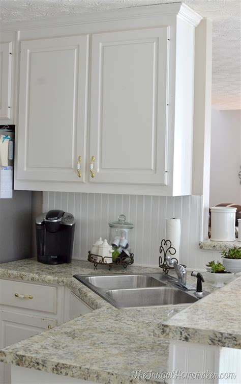 installing a backsplash in kitchen how to install a diy beadboard backsplash kitchen makeover