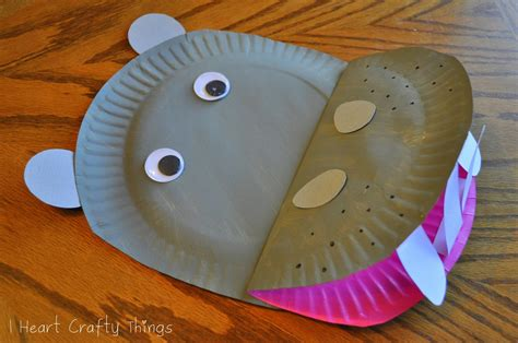 Paper Plate Hippopotamus I Crafty Things