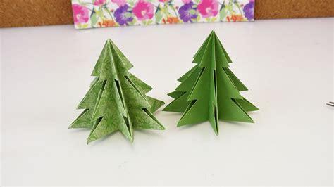 bastelanleitung weihnachtsbaum origami f 252 r weihnachten diy tannenbaum selber machen