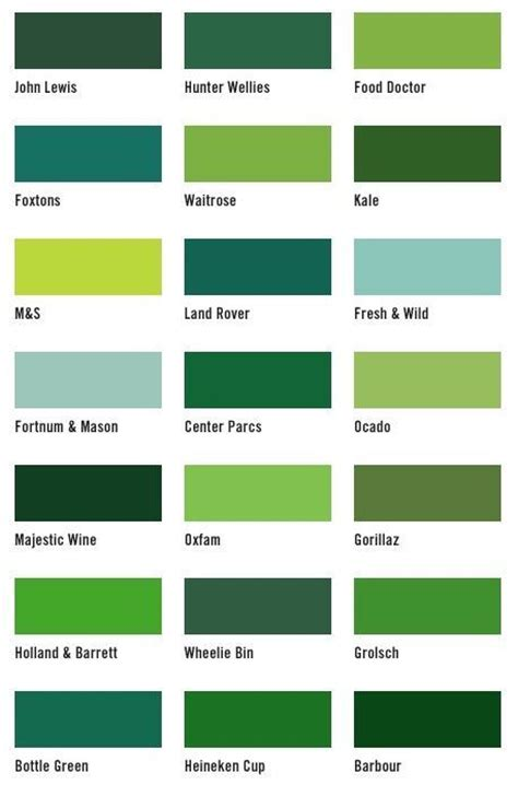 paint colors and their names best 25 shades of green names ideas on