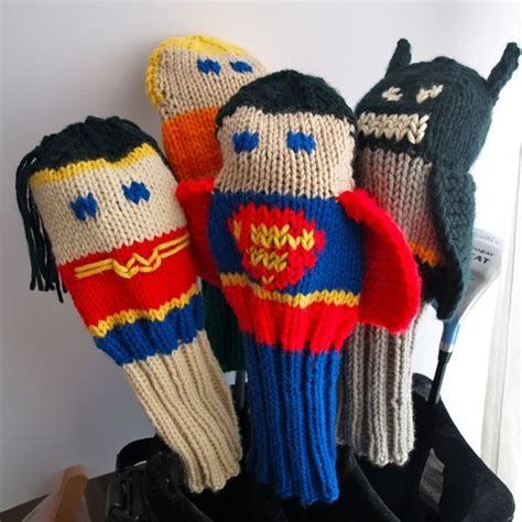 knitted golf club covers knit pattern justice league golf club cover collection pdf