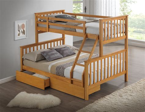 beech wooden bunk bed childrens