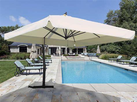 large cantilever patio umbrella fim p series aluminum 10 x 13 crank lift cantilever
