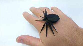 how to make origami spider how to make creepy origami spider