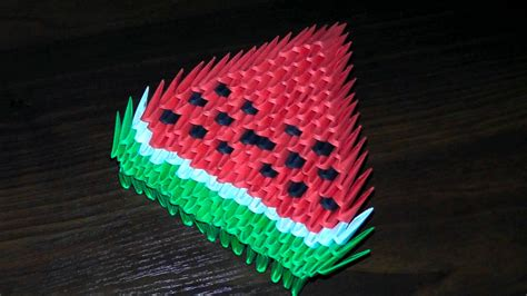 3d origami for beginners 3d origami watermelon for beginners tutorial