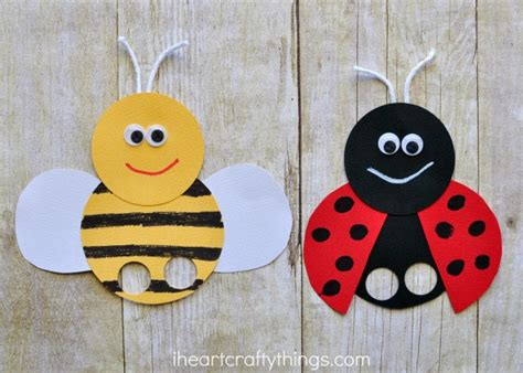 puppet crafts for incredibly bee finger puppets craft i crafty