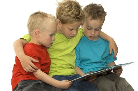 pictures of children reading books three reading boys