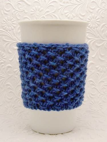 knitted cup cozy pattern cup cozy knitting pattern pdf instant