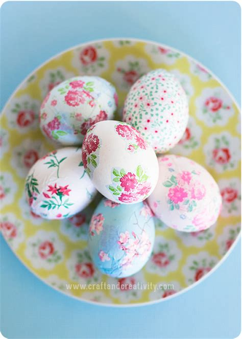 decoupage eggs how to pretty decoupage easter eggs make