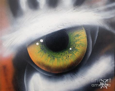 spray paint eye eye of the tiger painting by haddox