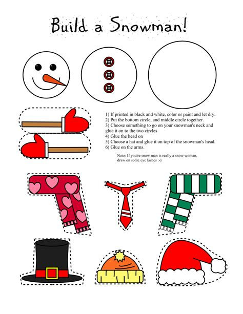 printable craft smarty printables printable snowman and snow
